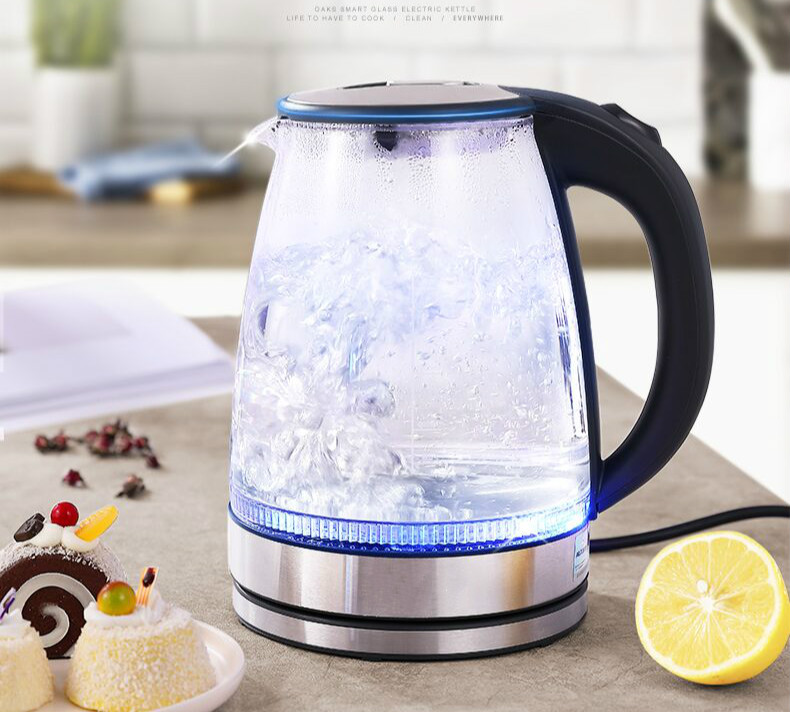 NEW Glass electric kettle boiling water boiler household transparent automatic power cut thermal insulation large capacit
