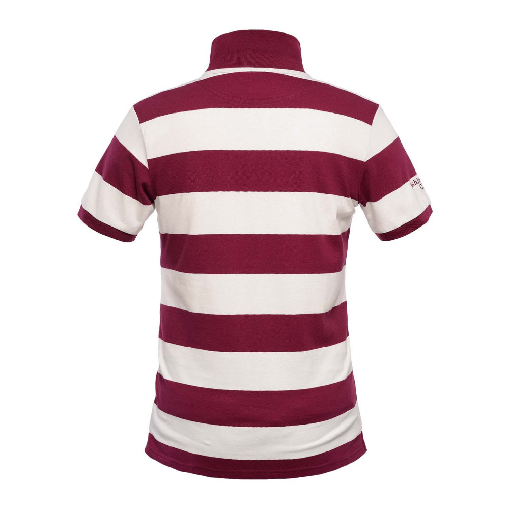 2ac8791a559 Mens Regular Fit Two-Button British Club Striped Short-Sleeve Cotton Polo  Rugby Shirt
