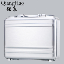 100% Luxury All Aluminum Magnesium Alloy Toolbox Full Metal Hairdressing Tool Box Medical Equipment Case Silver Briefcase