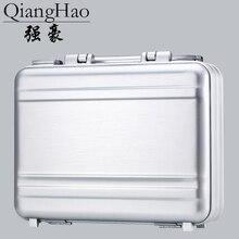 100% luxus Alle Aluminium Magnesium Legierung Toolbox Volle Metall Friseur Werkzeug Box Medizinische Ausrüstung Fall Silber Aktentasche