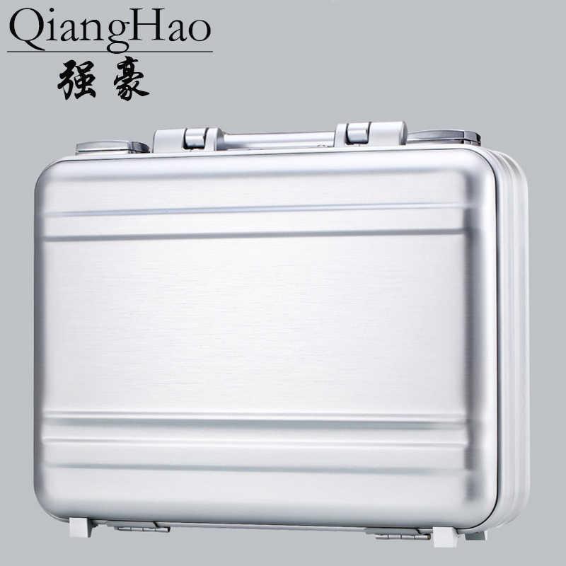 Роскошный алюминиевый сплав магния Toolbox Полный металлический парикмахерский ящик для инструментов чехол для медицинского оборудования Серебряный портфель