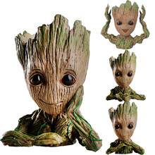 Cute Guardians of the Galaxy Tree man Flowerpot Toys Baby Tree man Action Figures Pot Toys Pen Holder Guardian Galaxy Treeman(China)