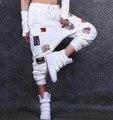 Harem Pants Jogger Soltas das mulheres Cair Virilha Hiphop Hip Hop calças De Dança do suor Streetwear feminino Femme street Wear mulheres calças