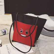 New Autumn Winter Top Handle Bags 2016 Large Capacity Shoulder Bag Fashion Expression Designer Tote Bags Women Leather Handbags