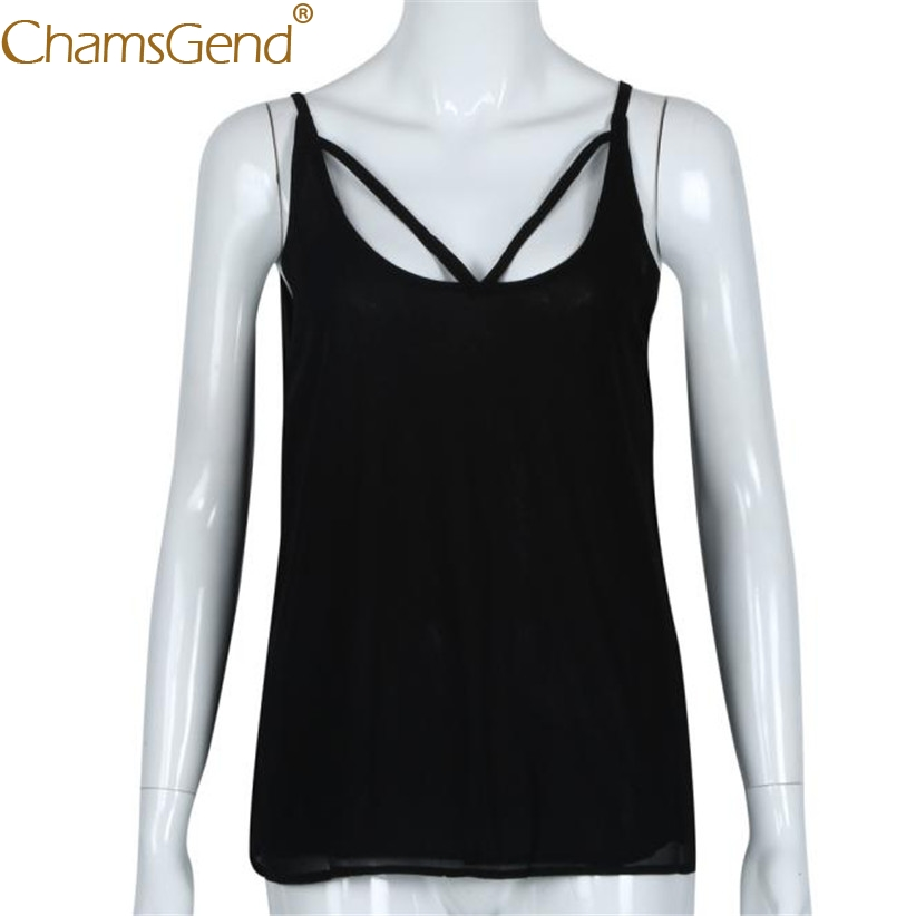 Chamsgend Tops Women Tees Newly Sexy Chiffon Camis Female Summer Tank Top Blouse 80108