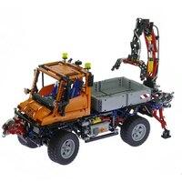 Техника 20019 2088 шт. механические грузовик Unimogu U400 наборы для ухода за кожей MOC 8110 модель здания Конструкторы кирпичи игрушечные лошадки детей