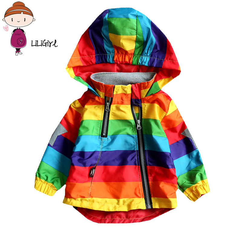 Baby Girl Jacket Boy Hooded Coat Sunscreen Clothes Rainbow Stripe Jacket Baby Boy Long Sleeves Spring And Autumn Kids Clothes Baby Girl Jacket Boy Hooded Coat Sunscreen Clothes Rainbow Stripe Jacket Baby Boy Long Sleeves Spring And Autumn Kids Clothes