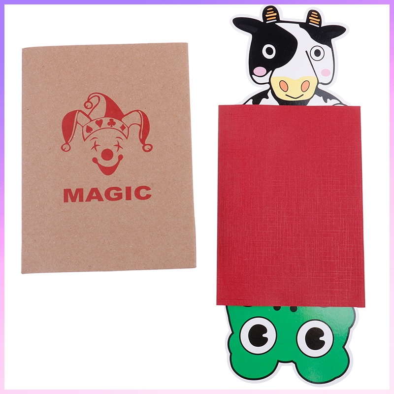 1 Set Cartoon Magi Cow And Frog - Magic Tricks,Stage Magic,Comedy,Mentalism,Close Up,Accessories,Toys image
