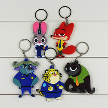 Zootopia Toys Anime Zootopia Figures Judy Nick Peluche Chief Officer Keychain Pendant Toy