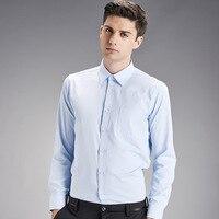 2017 Real Direct Selling Volledige Regelmatige Casual Solid Shirts Mannen katoen Designer Merk Slim Fit Man Lange Mouw Voor Kleding lente