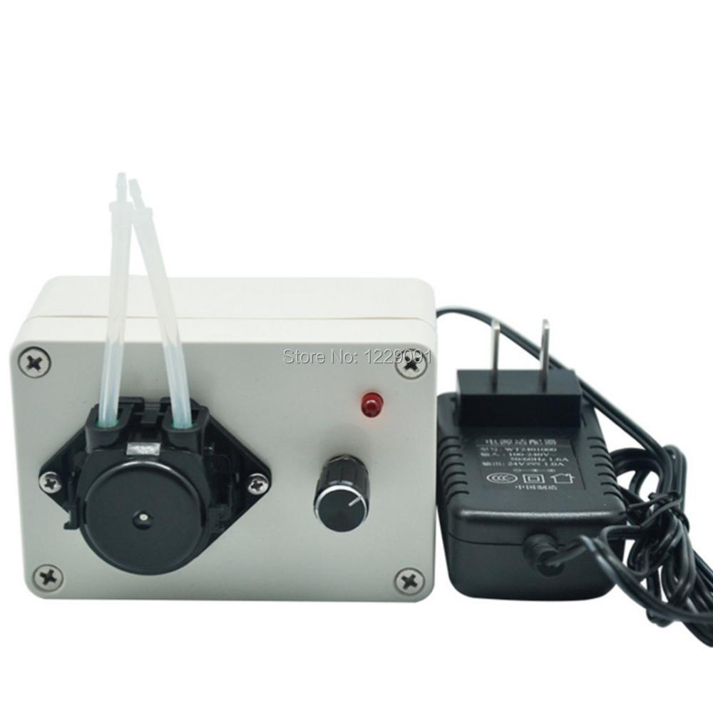 silence automatic self priming liquid pump small adjustable flow rate metering peristaltic pump machine 3v / 6v / 12v / 24v