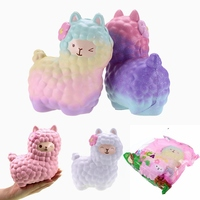 Portable Vlampo For Squishy Alpaca 17x13x8cm Slow Rising Original Packaging Collection Gift Decor Toy Phone Strap