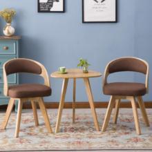 Одноцветные деревянные балконные столы и стулья для гостиной, повседневные кофейные столы и стулья, набор из трех предметов, кофейный столик кресло