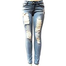 Skinny Ripped Jeans For Women Fashion Denim Boyfriend Jeans Pencil Pants Softener Mid Waist Female Sexy Girls Trousers 909152