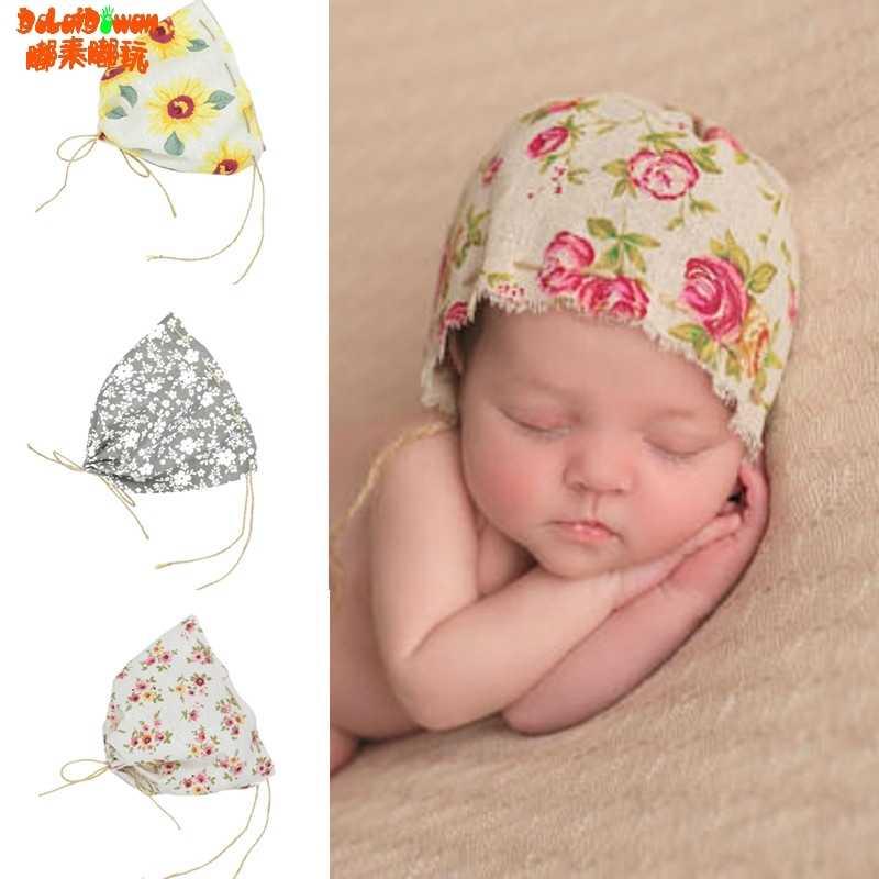 fe6a50dcf73 Detail Feedback Questions about Vintage Baby Boy Girl Linen Floral Hat Cap  Newborn Beanie Bonnet Hats Photo Prop 0 1 month on Aliexpress.com