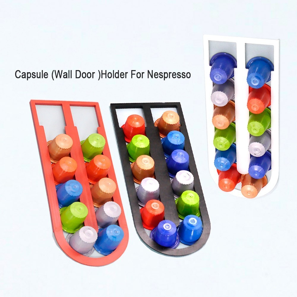 10PCS Coffee Pod Holder Dispenser Coffee Capsules Cap Dispensing Tower Stand Fit Nespresso Capsule Storage Coffee Filter Holder