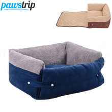 Pawtrip 4 Ways Pet Dog Bed Warm Winter Dog Sofa Bed Soft Fleece Puppy Blanket For Chihuahua M/L(China)