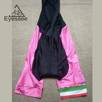 Eyessee 2017 Pink 100th Hundredth Ring Italy Race Cycling Bib Shorts Italian Riding Shorts Full Stage