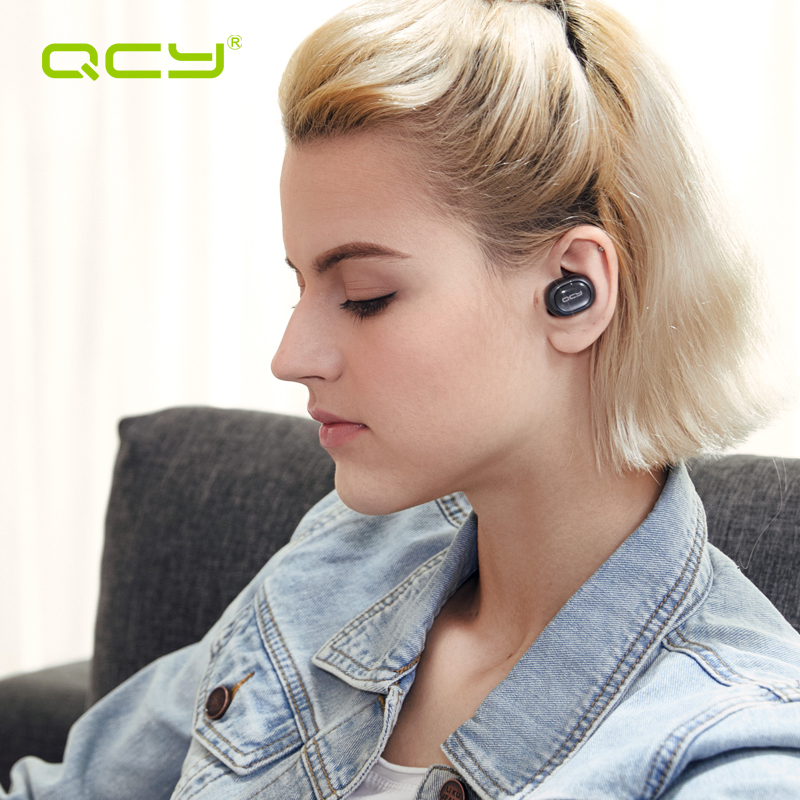 QCY Q29 Cuffie Bluetooth Mini TWS V4.2 Senza Fili Auricolari A Cancellazione di Rumore Auricolari con Microfono e Ricarica Caso