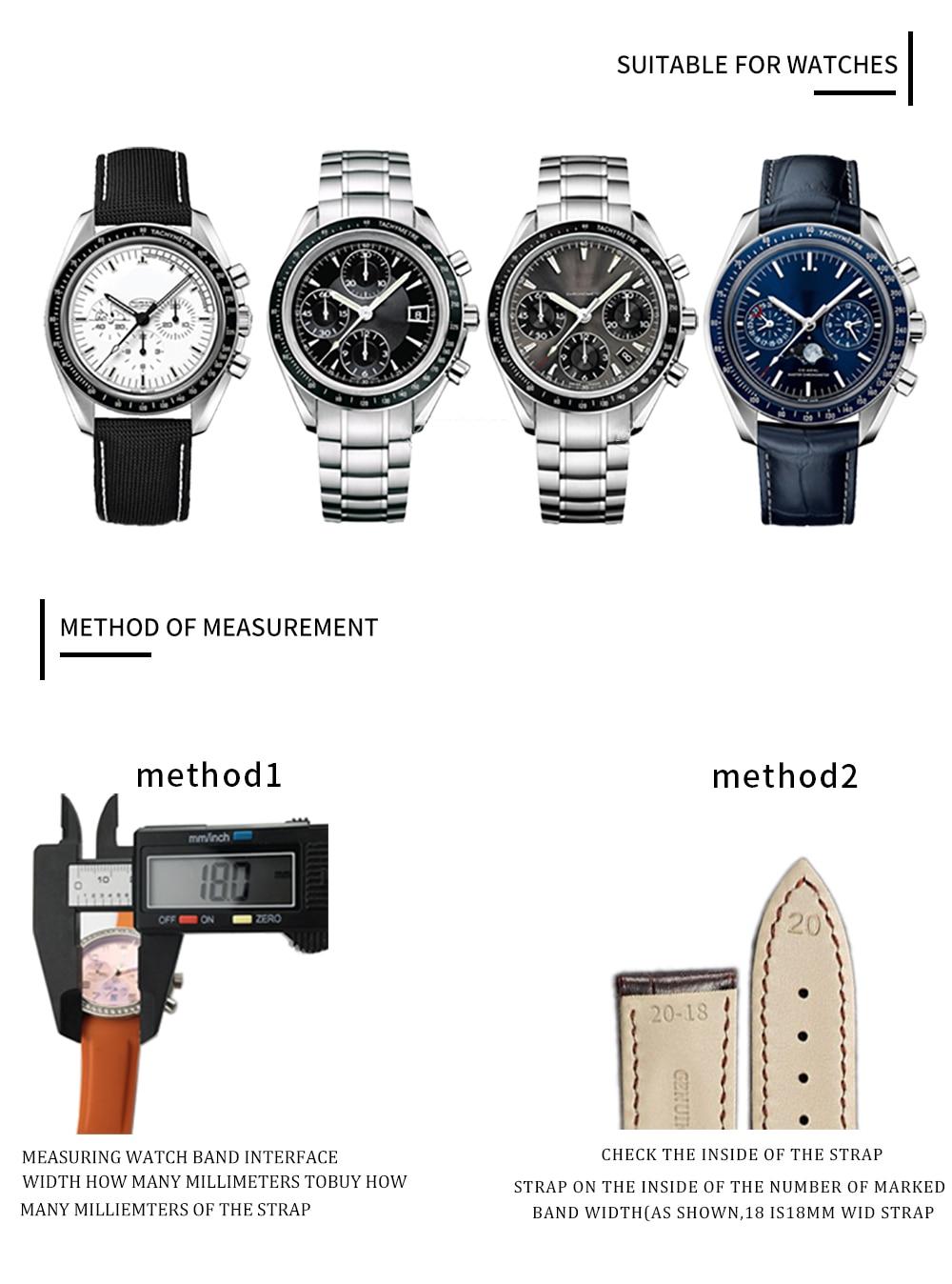 especial para omega speedmaster relógio de pulso