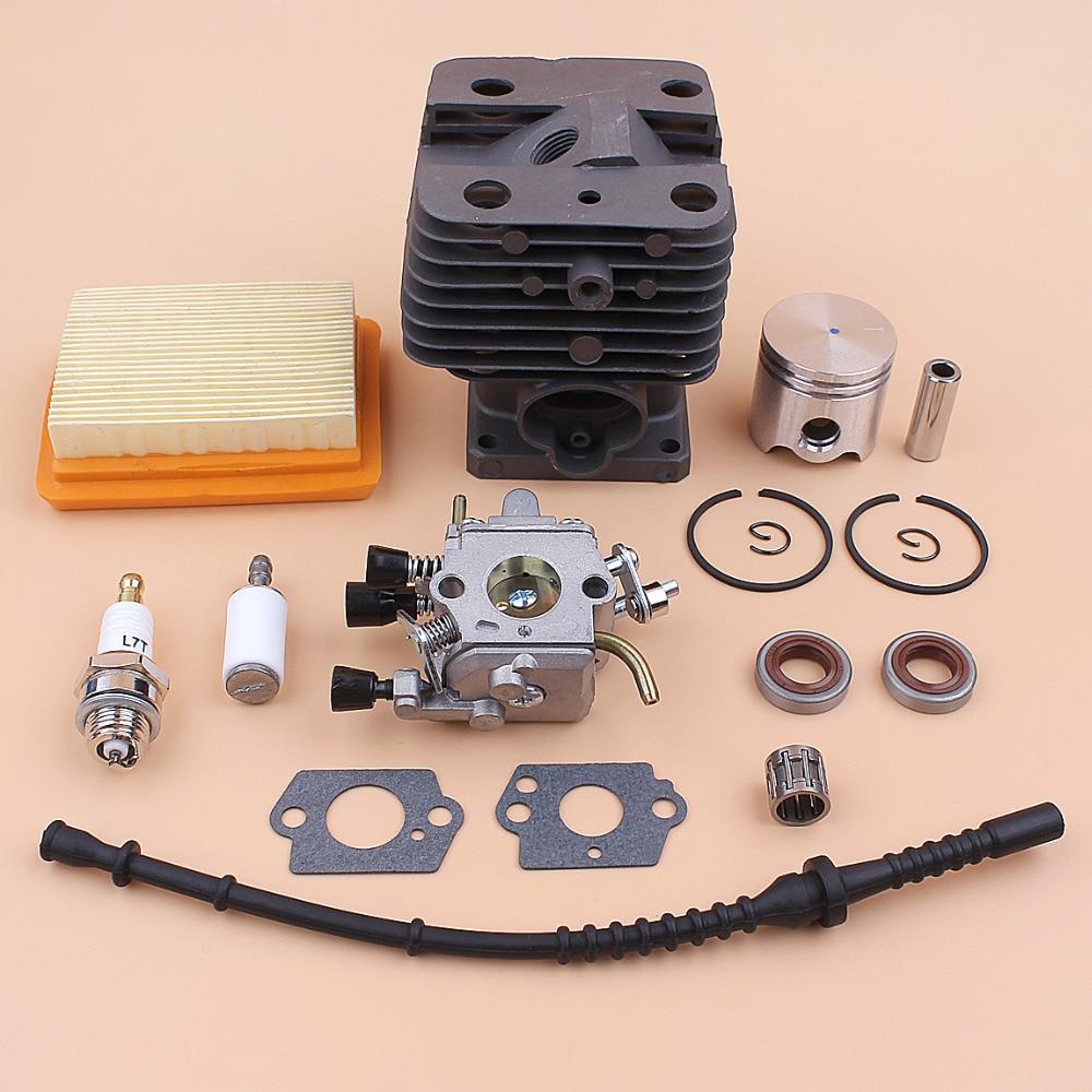 Kit de tuyau de carburant de filtre à Air de carburateur de Piston de cylindre de 35mm pour STIHL FS120 FS250 FS250R FS200 FS200R pièces de débroussailleuse de tondeuse