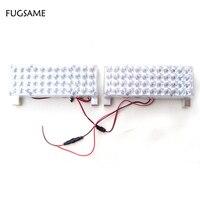 FUGSAME Gratis Verzending 96 LEDs Auto Voertuig Auto Strobe Flash Noodverlichting voor Grille/Deck DC 12 V