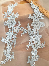 10 Pairs Super Equisite Baby Blue Venice Crochet Lace Applique Pair for Wedding Gowns DIY Bridal Accessories Veils Garters