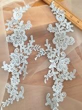 10 Pairs Super Equisite Baby Blue Venice Crochet Lace Applique Pair for Wedding Gowns DIY Bridal Accessories Veils Garters