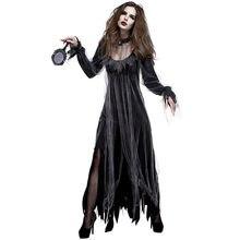 54d7ccaed841 Halloween Irregolare Manica Lunga Cimitero Zombie Sposa Costume Spaventoso  Gotico Fantasma Spooky del Vestito Operato Per Le Don.