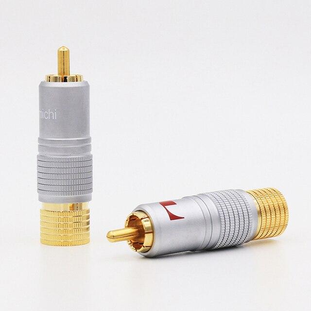 8 pièces Nakamichi 24K plaqué or RCA connecteur de câble Audio