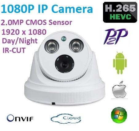 New type1920*1080P H.265 2.0 Megapixel ONVIF HD 1080P IP Camera P2P indoor IR-CUT Night Vision Network Camera Easy plug and play hjt audio poe 960p 1 3 megapixel hd onvif ip camera support p2p ir cut night vision network big dome camera h 264