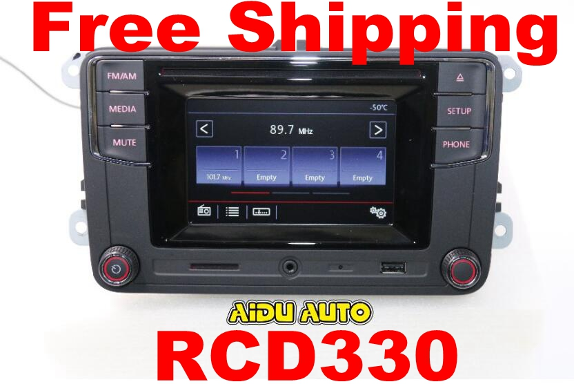 Free Shipping Car Bluetooth Radio High Version MIB RCD510 RCN210 RCD330 For Golf 5 6 Jetta MK5 MK6  CC Tiguan Passat