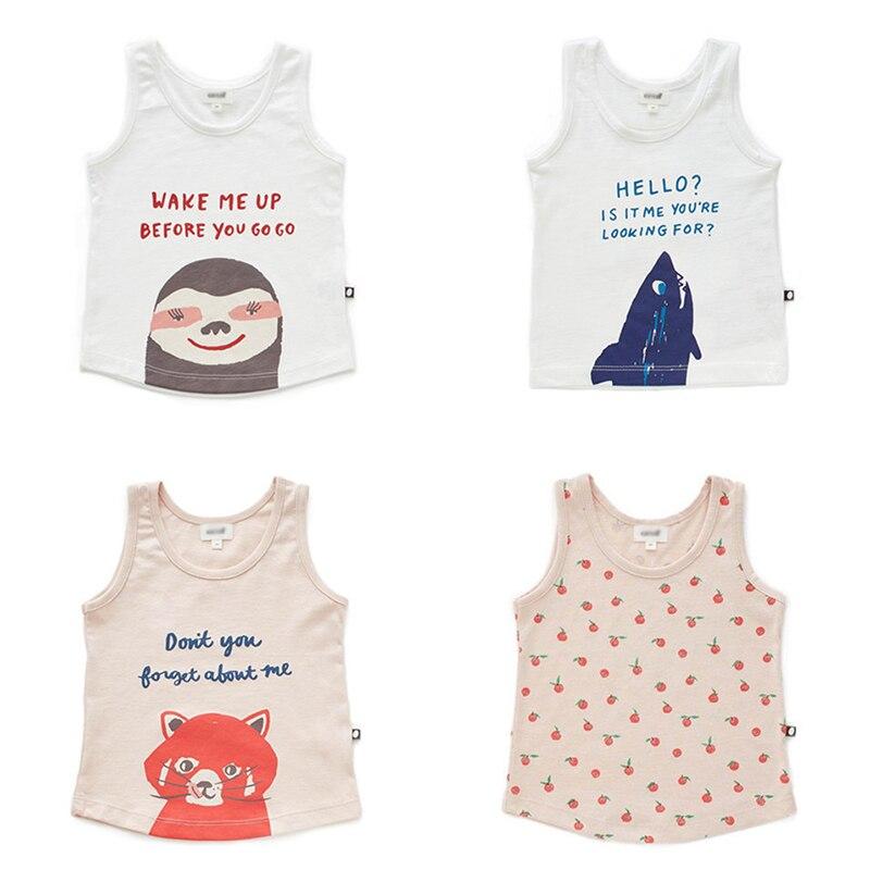 Enkelibb T-Shirt Baby Animal-Pattern Tops Toddler Kids Cartoon Summer for Hawaii Vest