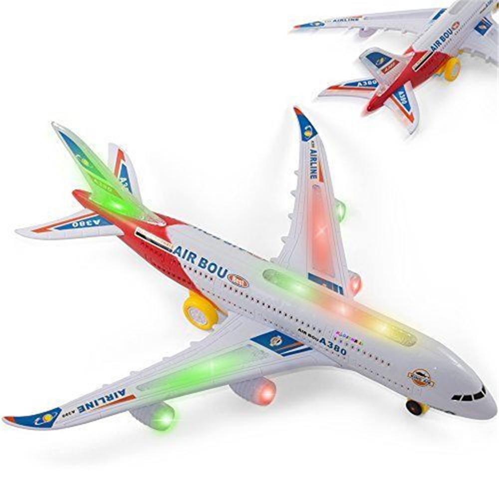 New Children Plastic Airbus A380 Model Airplane Electric