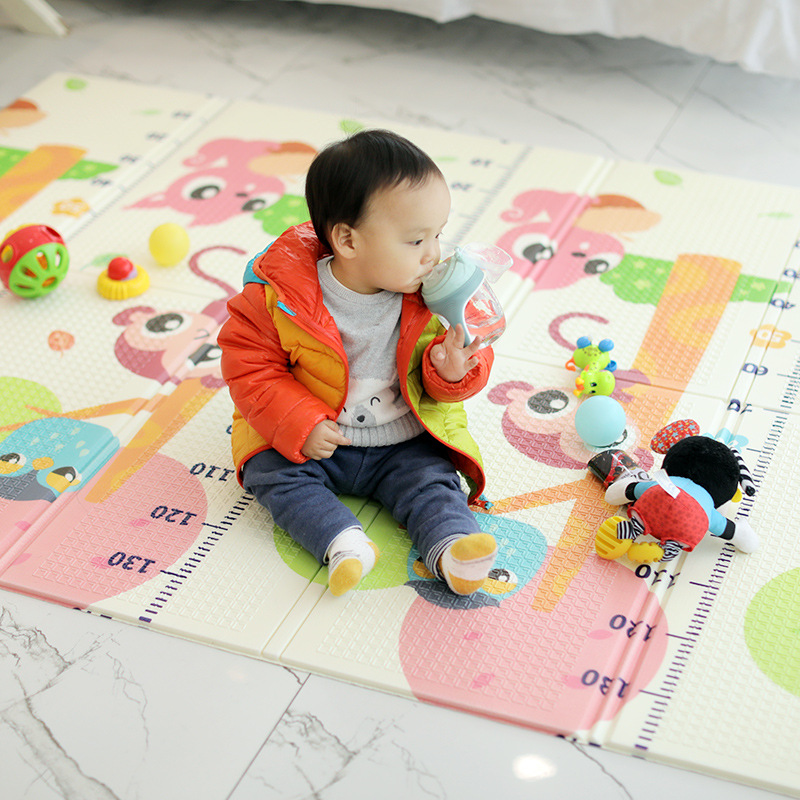 Tapis de jeu brillant pour bébé XPE Puzzle tapis pour enfants épaissi 1.5m * 2m * 1cm tapis rampant pour chambre de bébé tapis pliant pour bébé - 2