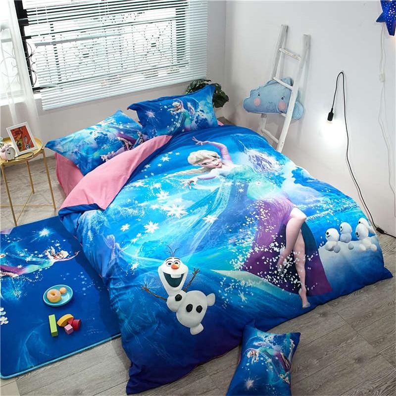 blue elsa quilt/duvet cover sanding fabric soft bedding