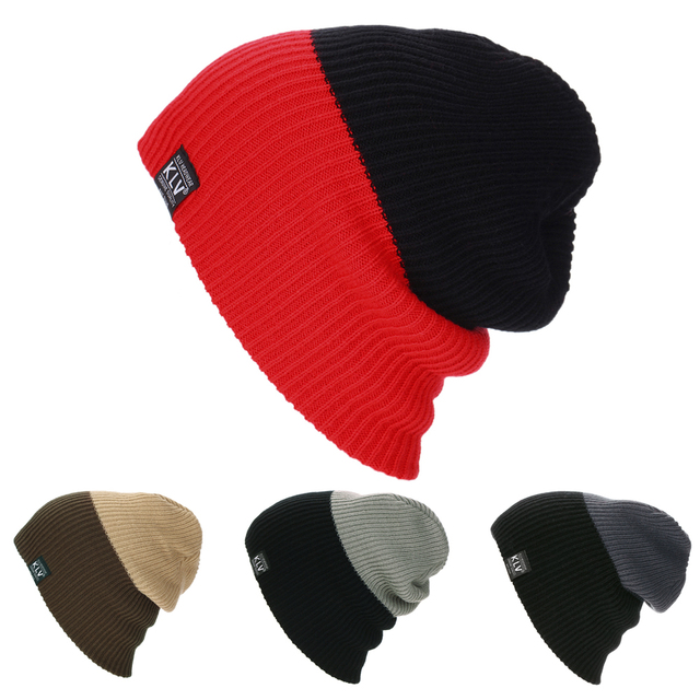 4e5f1e0bb24 Unisex Ski Snowboard Hat Ribbed Beanie Solid Color Warm Cable Knit Thick Slouchy  Beanie Cap Winter