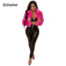 Women Faux Fur Short  Coat Jacket Winter Thick Warm Outwear Female Club Wear Plus Size Streetwear Elegant