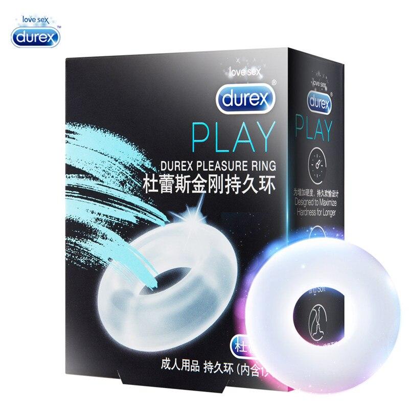 Durex Vergnügen Ring Kondom Erweiterung Penis Sleeve Extender Sex Spielzeug Produkte Mehrweg Kondome für Männer Ejakulation Verzögerung