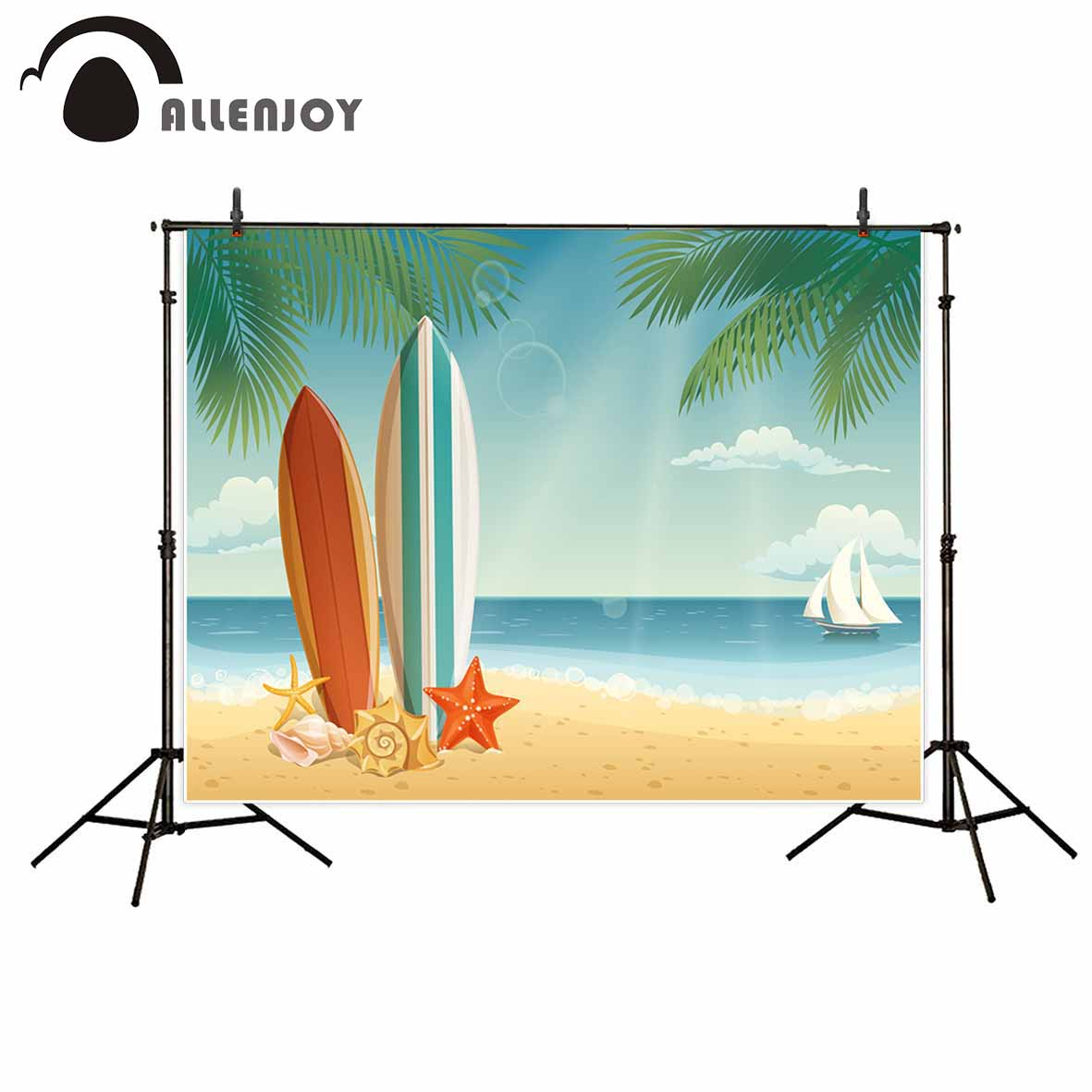 Allenjoy photography backdrops Summer beach surf board boat tree photographic background photo studio backdrop motorcycle front and rear brake pads for ktm xc exc 200 2004 2008 xc exc 250 400 450 2004 2007 black brake disc pad