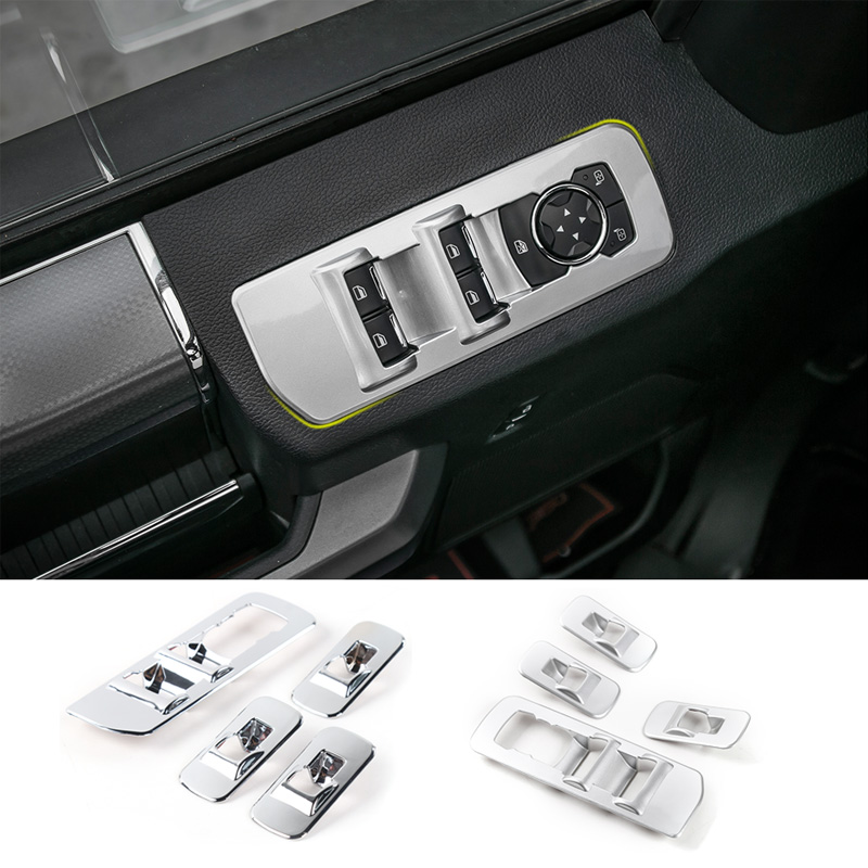 MOPAI ABS Car Interior Window Lift Panel Button Decoration Cover Frame Stickers For Ford F150 2015 up Car Styling цена