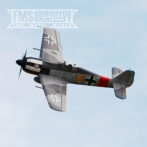Fms 1400mm fw 190 como verdadera guerra mundial ii modelo de aviones aviones modelo de control remoto eléctrico