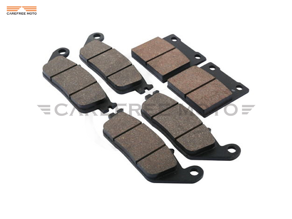 1 Set Semi-Metallic Motorcycle Front & Rear Disc Brake Pads Brake Disks case for SUZUKI GSX 400 IMPULS 1994 1995 1996