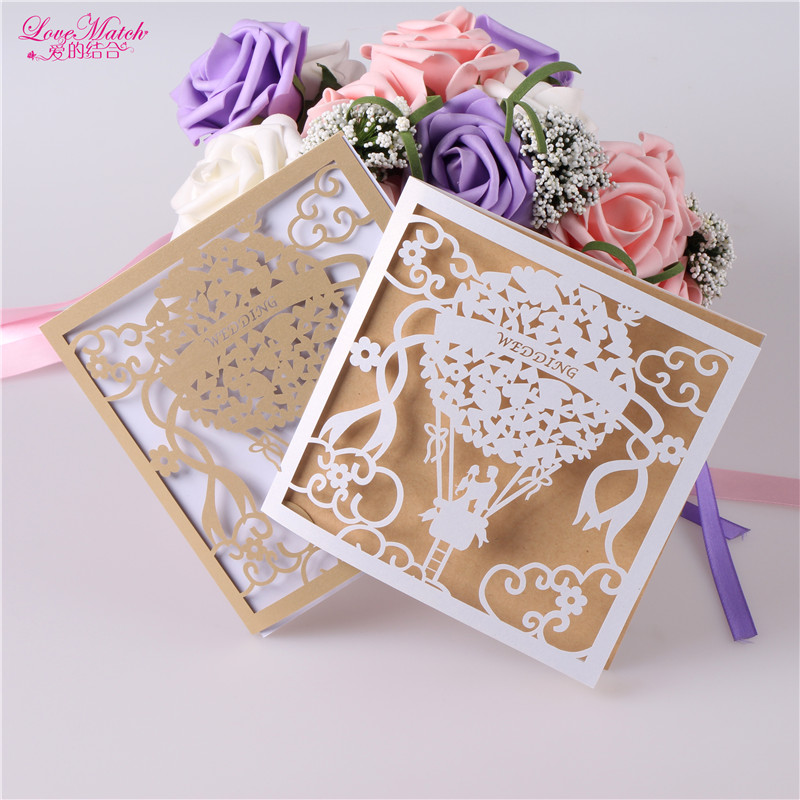 10sets Laser Cut Wedding invitations Card Wedding Favors And Gifts Flod Type Wedding Decoration Party Favors