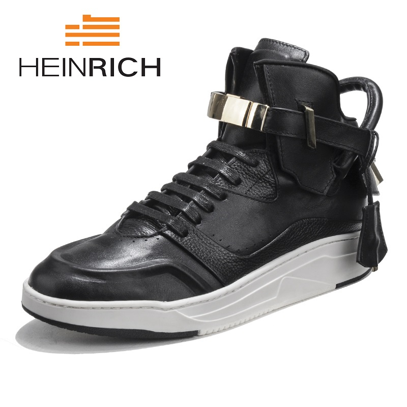 HEINRICH The New Listing Men's Casual Lightweight Flats Man Footwear Soft Bottom Casual High Top Men Shoes Sapatos Homens the casual vacancy