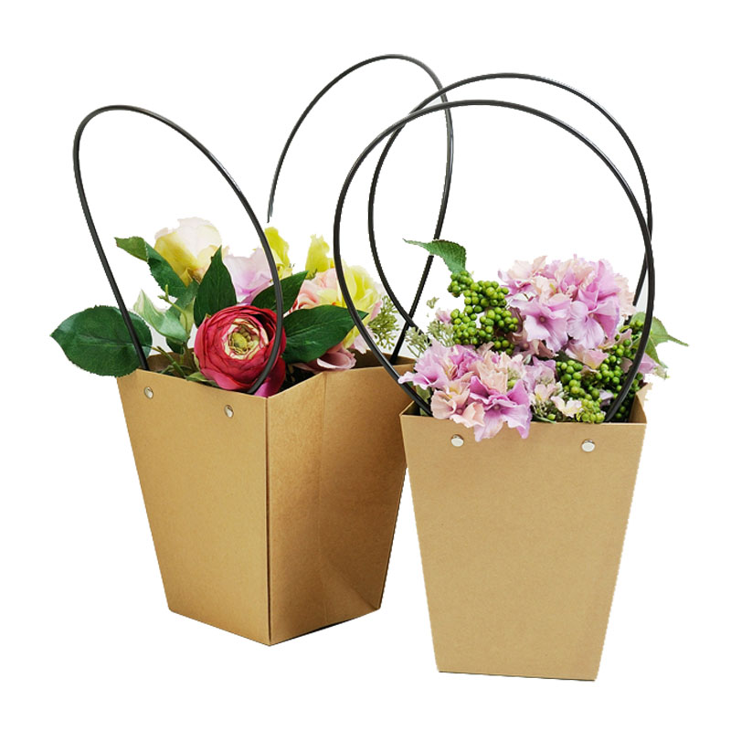 Aliexpress buy 5pcs brown paper bag flowerpot flower shop aliexpress buy 5pcs brown paper bag flowerpot flower shop packing material bag waterproof bag of flower art polymeat green plant fresh potted from mightylinksfo
