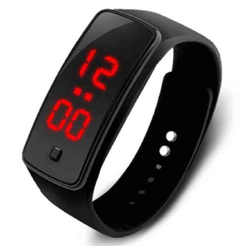 New Silicone Watchband Naised mehed LED digitaalne ekraan Vaata kleit Sport Kellad Fashion Outdoor käekellad lapsed õpilane