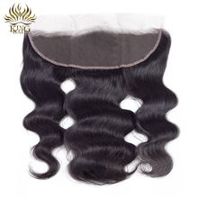 King Hair Lace Frontal Peruvian Body Wave Frontal Closure Ear To Ear 13*4 Bleached Knots 100% Remy Human Hair Closures