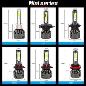 Image 3 - H4 H7 LED מכונית אור נורות עם COB שבב רכב פנס LED מיני אור מכוניות הנורה H1 9006 hb4 hb3 9005 H11 אוטומטי מנורת H7 נוריות H4 H11