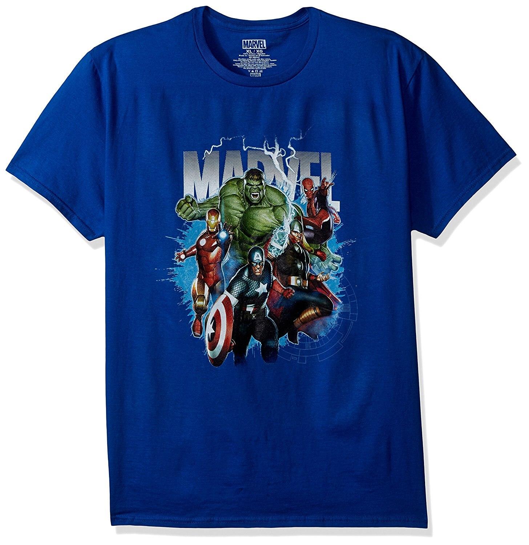 Marvel Для мужчин Классические групповой снимок короткий рукав Graphic T-Shirt